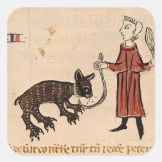 A Bear Keeper, from 'Decrets de Gratien' Square Sticker