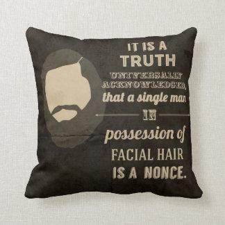 A Beardy truth Throw Pillows