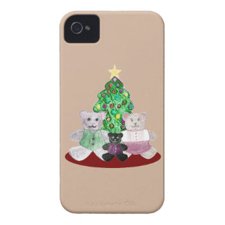 A Beary Merry Christmas Collage iPhone 4 Case-Mate Case