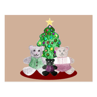 A Beary Merry Christmas Collage Postcard