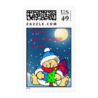A Beary Merry Christmas Postage