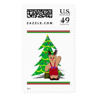 A Beary Reindeer Christmas Stamps