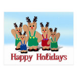 A Beary Reindeer Christmas Postcard