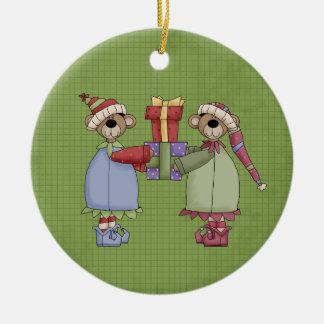 A Beary Sweet Couple Ceramic Christmas Ornament