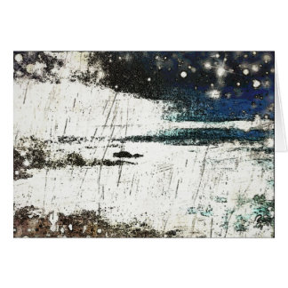 A beatyful winter day by the sea. card