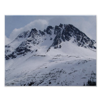A beautiful Alaska mountain scene! Poster