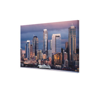 A beautiful and dramatic sunset seen from West Canvas Print