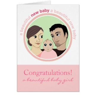 A Beautiful Baby Girl Card