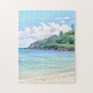 A beautiful beach in the Seychelles Puzzle