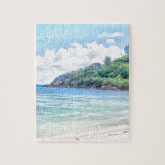 A beautiful beach in the Seychelles Puzzles
