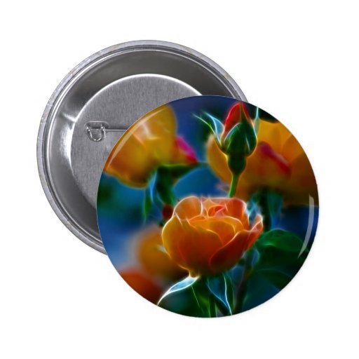 A beautiful bunch of roses and meaning button