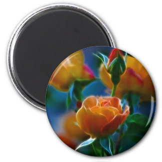 A beautiful bunch of roses and meaning magnet