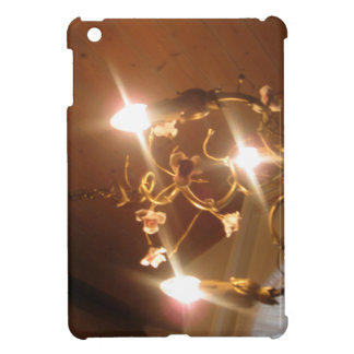 A beautiful chandelier inside a hotel room iPad mini cover
