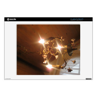 "A beautiful chandelier inside a hotel room 14"" laptop skins"