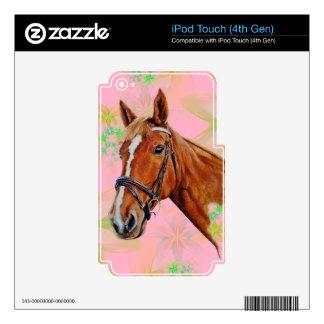 A beautiful chestnut Irish Sports x Irish Draugh Decal For iPod Touch 4G