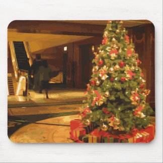 A Beautiful Christmas Tree in a Dazzling Mall Mouse Pad