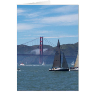 A Beautiful Day on San Francisco Bay Card