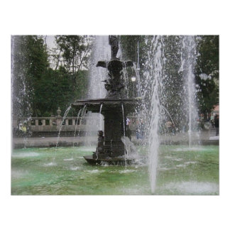 A Beautiful Fountain in the Alameda Mexico DF 2 Poster