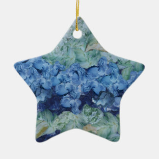A beautiful garden Double-Sided star ceramic christmas ornament