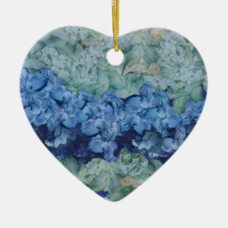 A beautiful garden Double-Sided heart ceramic christmas ornament