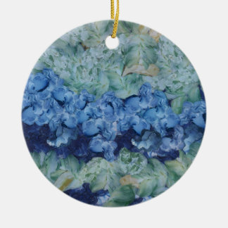 A beautiful garden Double-Sided ceramic round christmas ornament