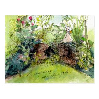 A beautiful garden postcard