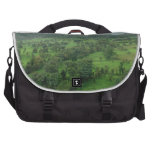 A beautiful green countryside bag for laptop