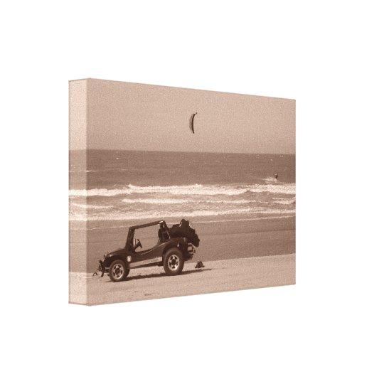 A beautiful image of a kitesurfers paradise canvas print