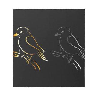 a beautiful kingfisher notepad