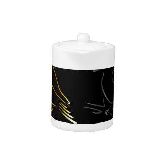 a beautiful kingfisher teapot