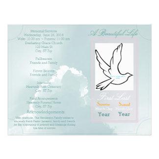 A Beautiful Life Funeral Program-single fold Flyer
