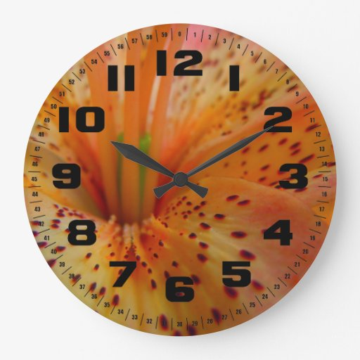 A Beautiful Lily in Pink Large Clock