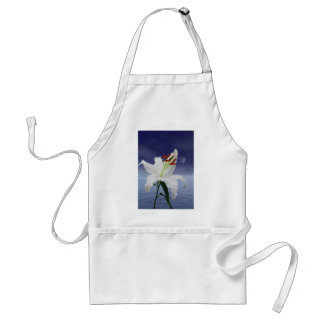 A beautiful lily in the moonlight adult apron