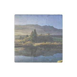 A beautiful marshes landscape stone magnet