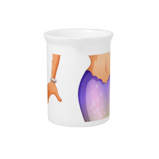 A beautiful mermaid drink pitchers