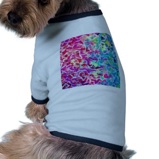 A BEAUTIFUL MESS 2 Pink Turquoise Blue Abstract Dog T-shirt