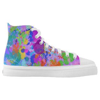 A Beautiful mess splatter paint Design High-Top Sneakers