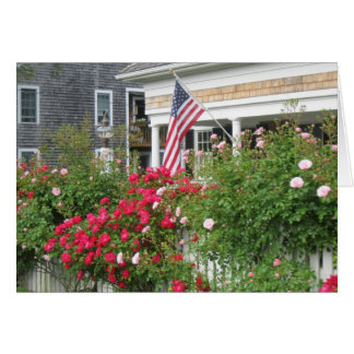 """""""A Beautiful Nantucket Cottage"""" Stationery Note Card"""