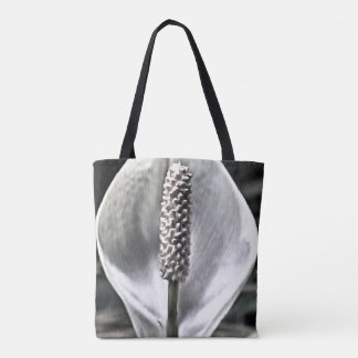 A beautiful Peace Lily Tote Bag
