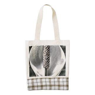 A beautiful Peace Lily Zazzle HEART Tote Bag