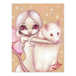 """A Beautiful Rat"" Postcard"