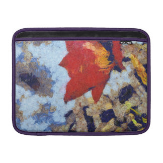 A beautiful red lily MacBook sleeve