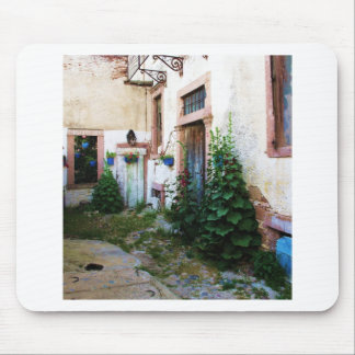 A beautiful rustic old blue door in CRETE, Greece Mousepads