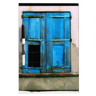 A beautiful rustic old blue window shutter Greece Dry-Erase Boards