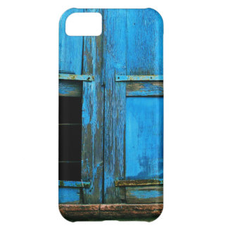 A beautiful rustic old blue window shutter Greece iPhone 5C Cover