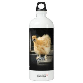 a beautiful Silkie Bantam Chicken picture. Aluminum Water Bottle