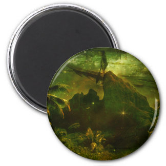 A Beautiful South Pacific Paradise 2 Inch Round Magnet