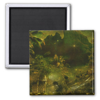 A Beautiful South Pacific Paradise 2 Inch Square Magnet