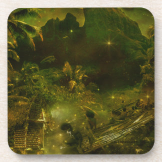 A Beautiful South Pacific Paradise Drink Coaster