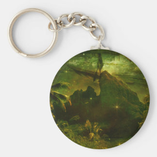 A Beautiful South Pacific Paradise Keychain